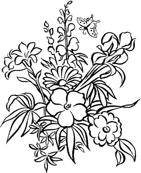 detailed flower coloring pages    print