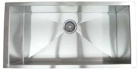 36 undermount stainless steel kitchen sink 36 inch stainless steel undermount single bowl kitchen 8985