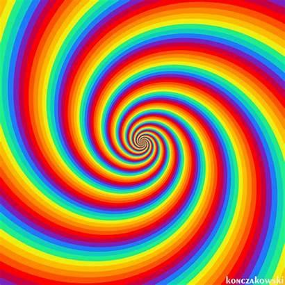 Rainbow Spiral Swirl Hypnotic Trippy Loop Perfect