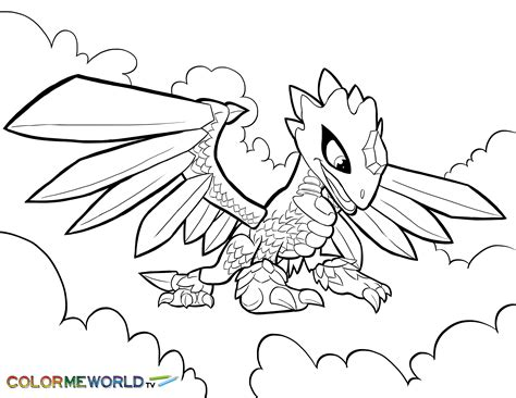 Kleurplaat Skylanders Superchargers by Flashwing Coloring Page Skylander S Coloring Pages