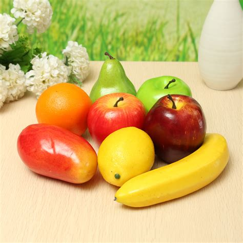 cuisine decorative 8pcs lifelike artificial plastic fruit kitchen