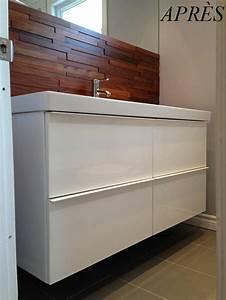 Salle De Bain Avant Après : avant apr s une salle de bain plus chaleureuse ~ Mglfilm.com Idées de Décoration