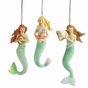 Mermaid Christmas Ornaments (Set of 3)