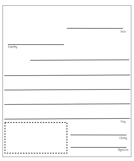 letter writing template letter writing freebies taming my flock of firsties