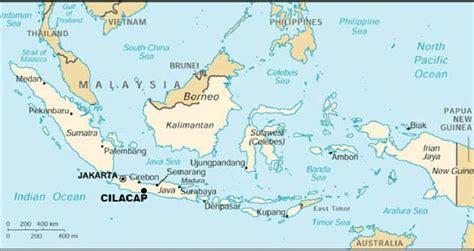 location  cilacap central java indonesia