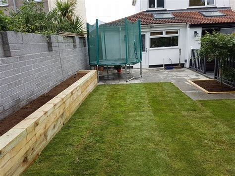 turf decking stone  sleepers nick white landscaping