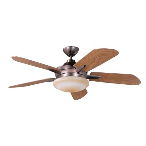 lowes ceiling fans with lights and remote shop kendal lighting sirus 52 in oil brushed bronze