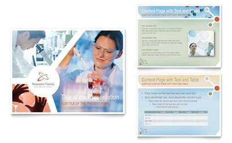 medical research powerpoint  template design