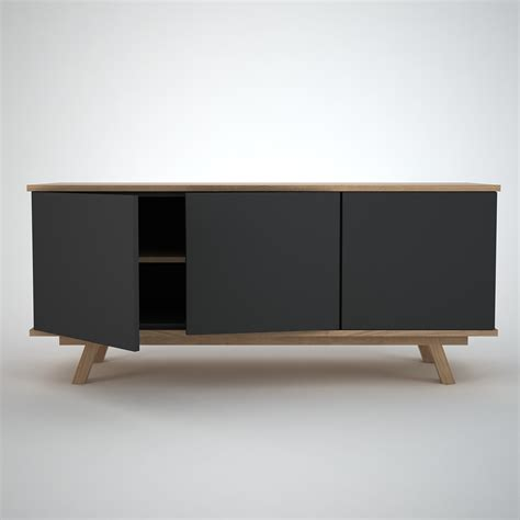 Sideboard Eiche Modern by Ottawa Sideboard 3 Anthracite Join Furniture