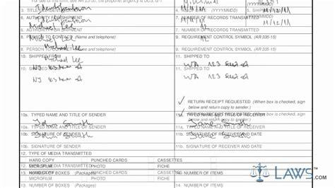 Army Da Form 638 Examples