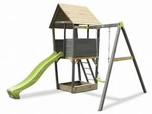 Spielhaus Für Den Garten : kinder spielturm exit aksent spielturm einzelschaukel ~ Articles-book.com Haus und Dekorationen