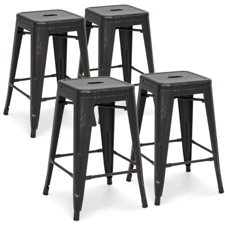 Counter Height Bar Stools Set Of 4 by Best Choice Products 24in Set Of 4 Stackable Modern