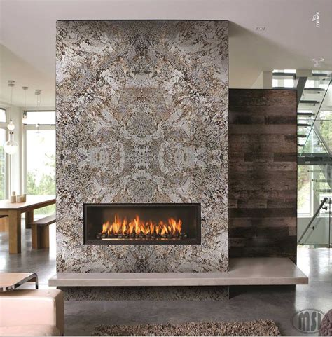 fireplace design  bookmatch slabs simply