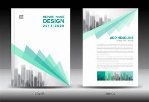 Annual Report Brochure Green Cover Template Vector 04 Free