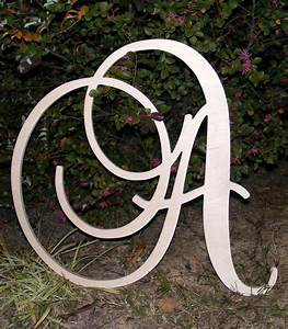 24 large wooden wall letters monogram by With large initial wall letters