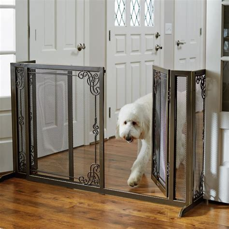 door gates for dogs mesh pet gates frontgate