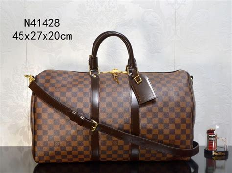 lv louis vuitton  keepall  handbags brown travelling bags damier cheap replica lv