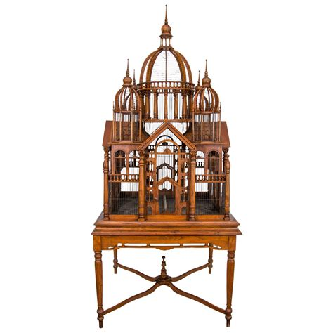 birdcage stands monumental bird cage on stand at 1stdibs