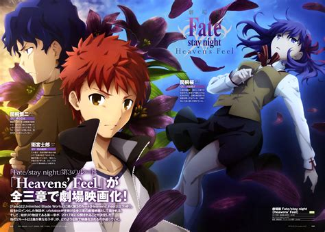 fate series upcoming anime new visual revealed for fate stay heaven s feel