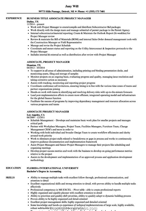 Project Assistant Resume by Print Associate Project Manager Resume Sle Associate
