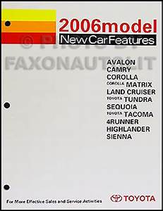 2006 Toyota Avalon Wiring Diagram Manual Original