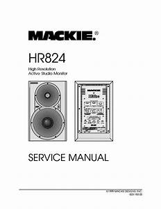 Mackie Hr824 Active Studio Monitor Service Manual Download