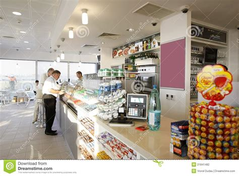 gas station shop interior editorial photography image