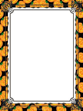halloween word document borders festival collections