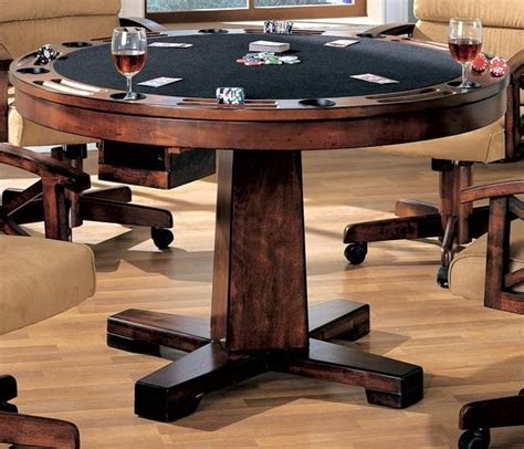 round poker table with dining marietta black convertible bumper pool poker dining