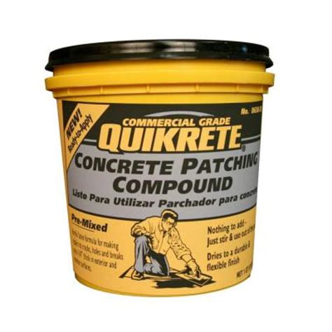 Concrete Floor Patching Compound by Quikrete 1 Qt Concrete Patching Compound 865035 The