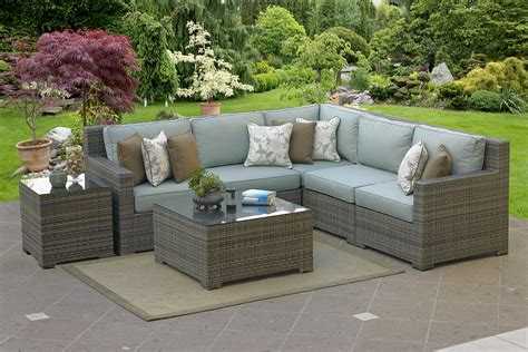 Outdoor L by Malibu 5 Sectional Willow Weave