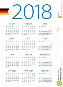 Deutsche Kalender 2018 : calendar 2018 german version stock illustration ~ Jslefanu.com Haus und Dekorationen