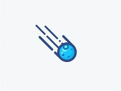 Asteroid Animation Clipart Dribbble Icon Comet Simple