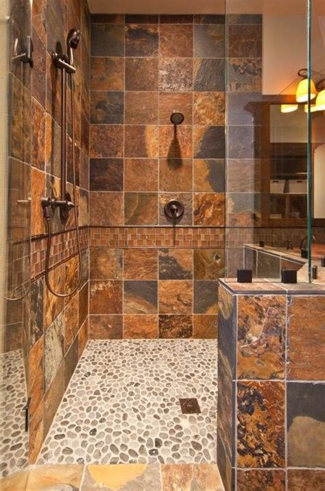 "Great Color For The Shower Tiles Make For A ""rustic"