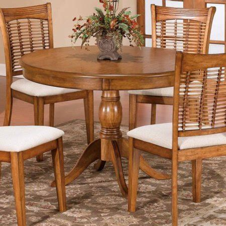 44 Inch Dining Table bayberry 44 inch pedestal dining table oak walmart