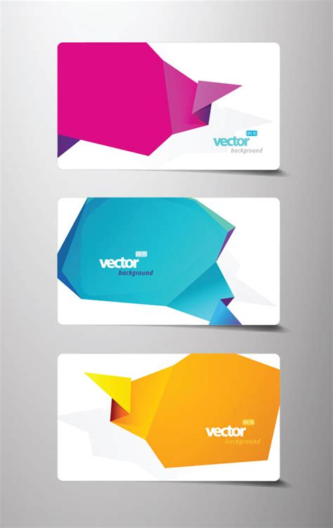 origami business card vector ai svg eps vector