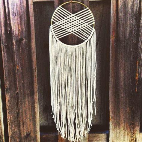woven macrame wall hanging dreamcatcher