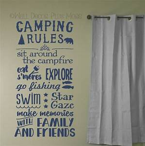 Camping Rules Subway Art Quotes Wall Letters for