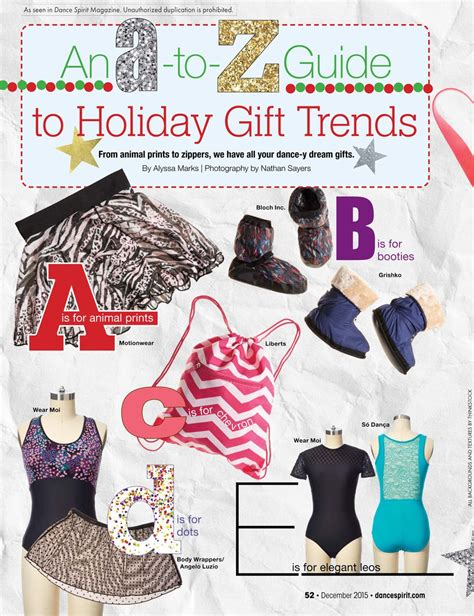 an a to z guide to holiday gift trends dance spirit