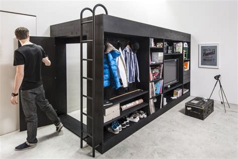 walk in closet beds for small apartments homecrux