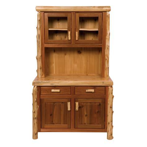 Cedar Log Buffet Hutch 48 Inch
