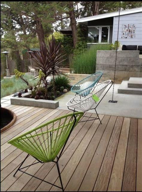 wood deck   concrete patio backyard