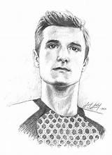 Peeta Mellark Josh Hutcherson Drawings Fan Deviantart Login sketch template