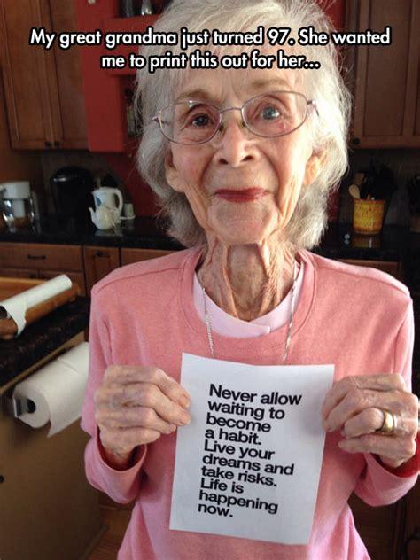 great advice grandma