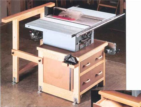 Cabinet Table Saw Mobile Base by This Sturdy But Mobile Cabinet Will Improve Your Tablesaw