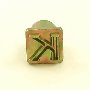 12mm modern letter k embossing stamp artisanleathercouk With single letter embosser
