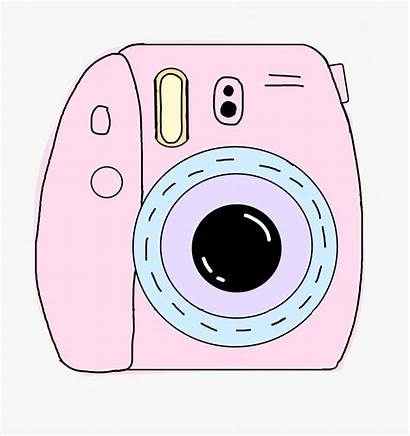 Camera Clipart Polaroid Aesthetic Pink Kawaii Sticker