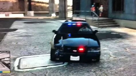 Gta V New Cop Car Crown Vic All Black Unmarked