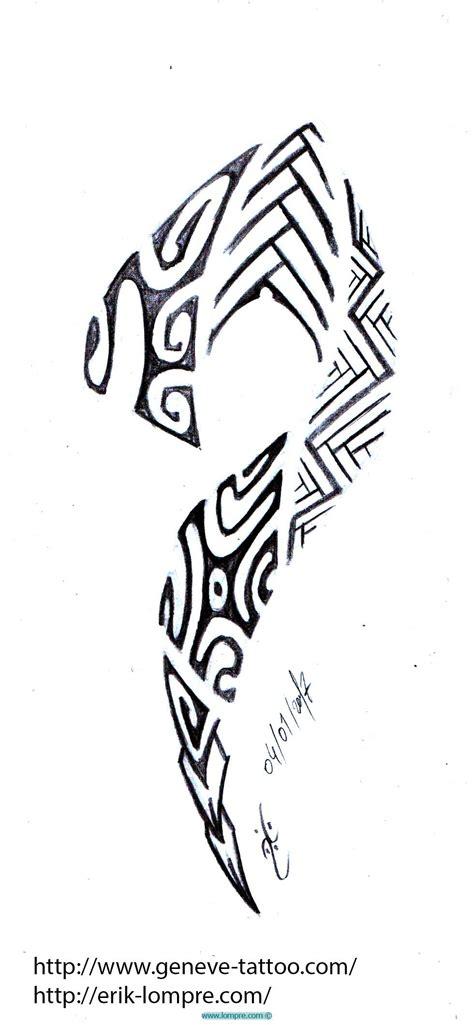 Dessin Lezard Tribal