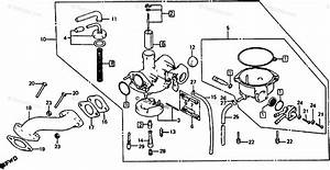 Honda Atv 1983 Oem Parts Diagram For Carburetor